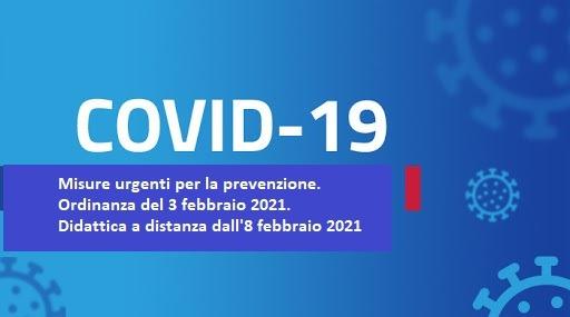 Chiarimenti Ordinanza Regionale n. 3 del 5 febbraio e Ordinanza n.4 del 7 febbraio 2021